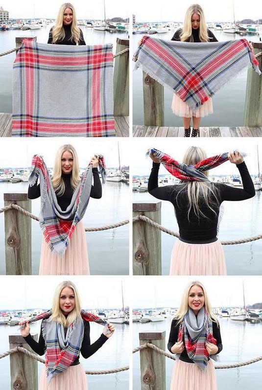 Մեծ շարֆերը կապելու 10 նորաձև եղանակ